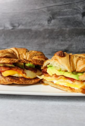 Bacon Egg & Cheese Croissant Sandwiches