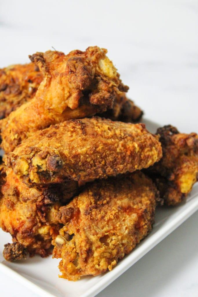 Air Fryer Fried Chicken close up