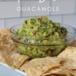 Guacamole in a bowl with Tortilla Chips