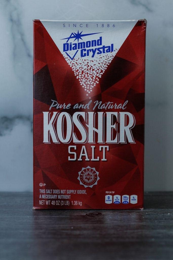Box of Diamond Crystal Kosher Salt