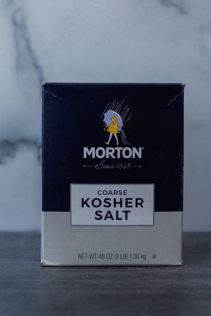 Box of Morton Coarse Kosher Salt