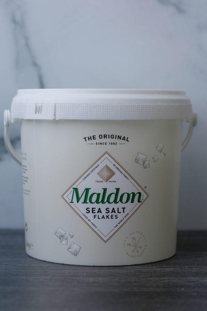 Tub of Maldon Sea Salt Flakes