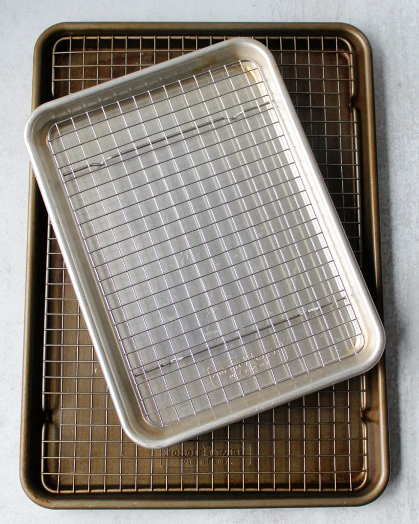 Nordic Ware half sheet pan and quarter sheet pan with cooling racks. Kitchen essentials.