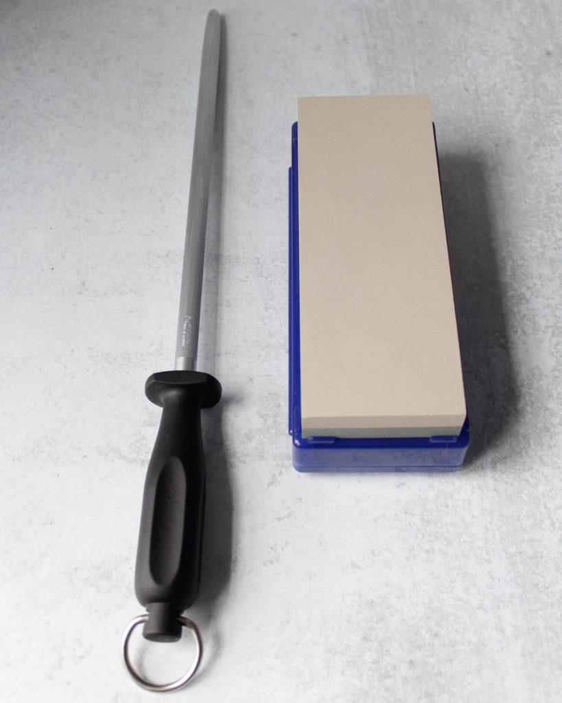 Wüsthof honing steel & a whetstone. Kitchen essentials.