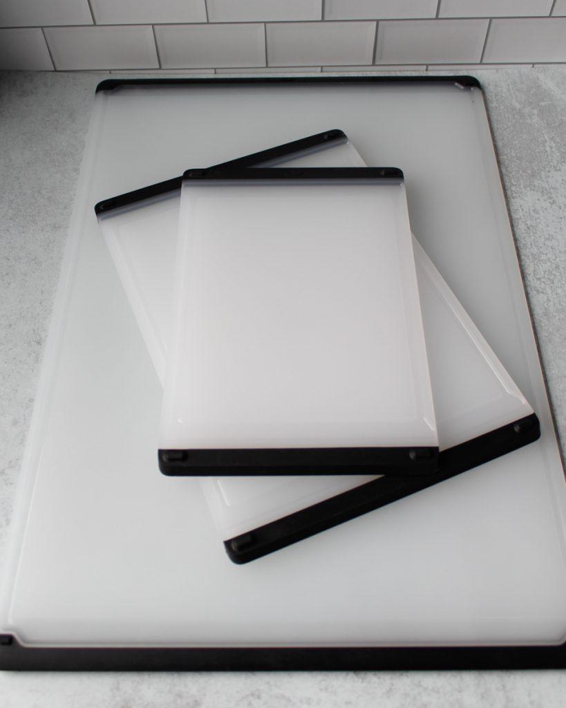 OXO cutting boards. Kitchen essentials.