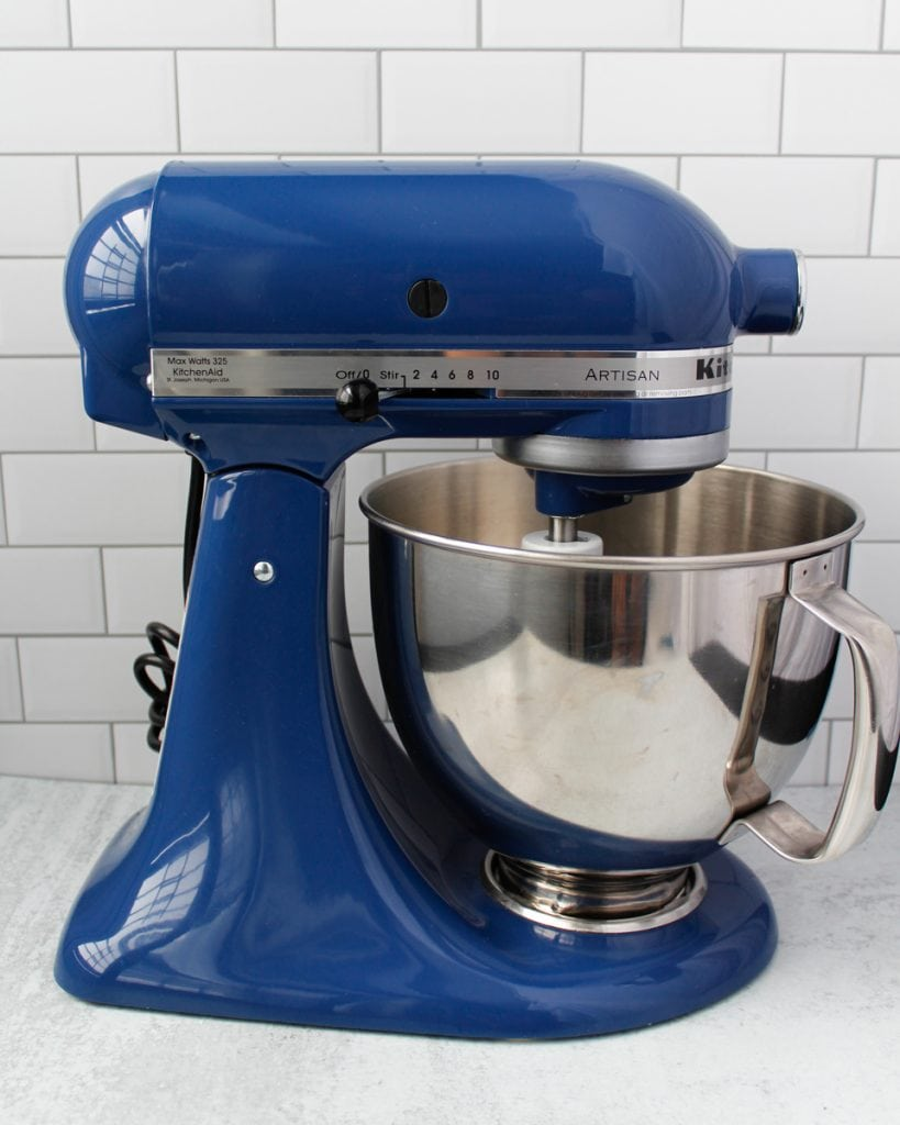 KitchenAid Artisan Stand Mixer in the color Blue Willow.